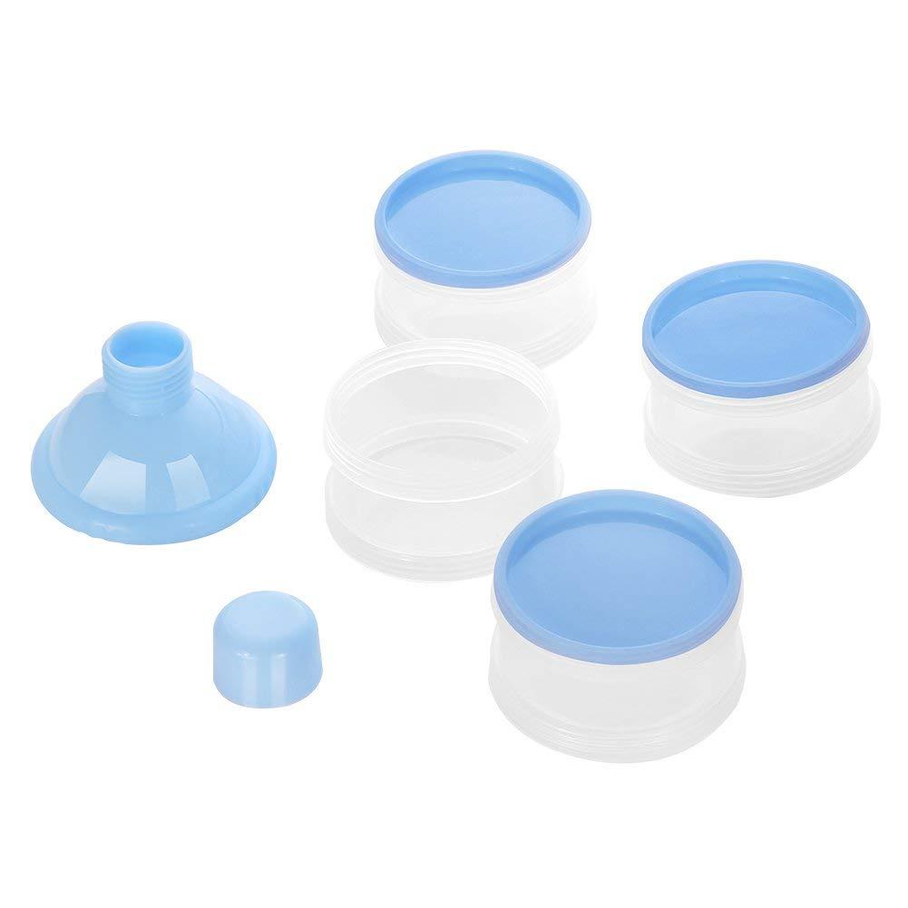 Beb/é Port/átil en Polvo Box Dispensador de F/órmula,Set de recipientes para leche maternal,tupper infantile Azul