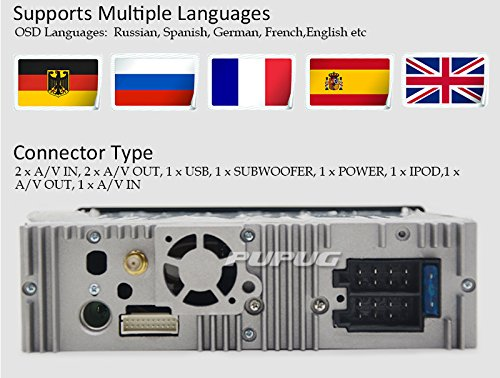 Remote Controller USB Slot Card Port Bluetooth Digital Media Receiver 1 DIN Bluetooth Car Audio Stereo Radio FM Ricevitore Lettore MP3 ingresso AUX SD