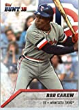 2016 Topps Bunt #76 Rod Carew Minnesota Twins Baseball Card in Protective Screwdown Display Case