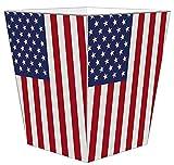 WB2718 - American Flag Wastepaper Basket