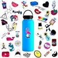 Cute Water Bottle Stickers Waterproof For Teens Girls 45pcs Trendy Stickers Decals For Hydro Flask Laptop Computer Mackbook Notebook