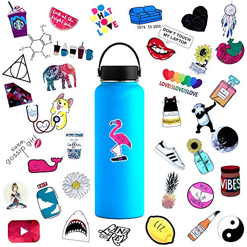 Cute Water Bottle Stickers Waterproof for Teens Girls