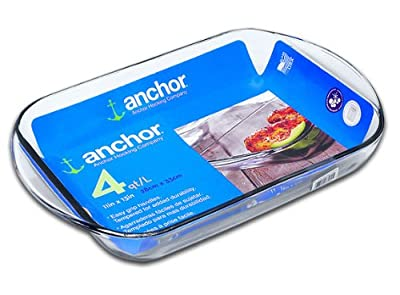 Anchor 77894 Bake Dish, 4-Quart