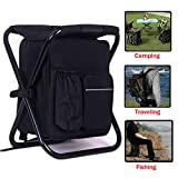 HANERDUN 3 in 1 Cooler Backpack, Foldable Fishing Chair, Portable Backpack Chair