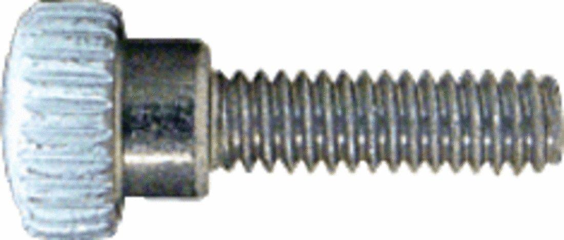 CRL White 8-32 x 9/16' Knurled Thumb Screws
