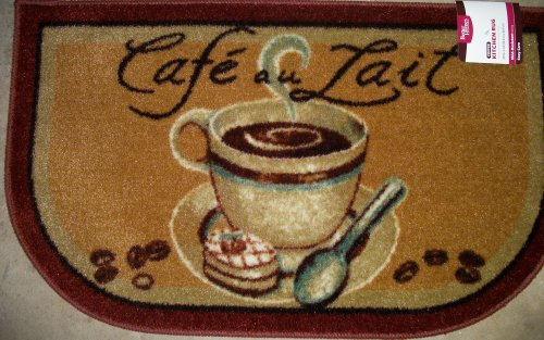 Amazon.com: Cafe\' au Lait Coffee 20 x 34 Slice Kitchen Rug ...