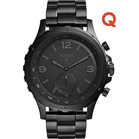 Fossil Q Nate Stainless Steel Hybrid Smartwatch (Black) (Fossil Watchs Nate)