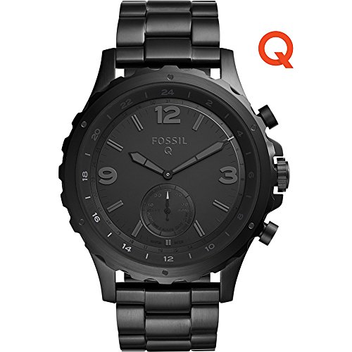 Fossil Q Nate Stainless Steel Hybrid Smartwatch (Black) by Fossil