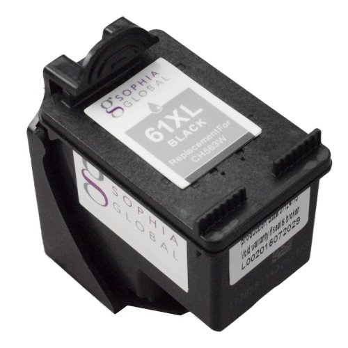 Sophia Global Remanufactured Ink Cartridge Replacement for HP 61XL with Ink Level Display (1 Black)