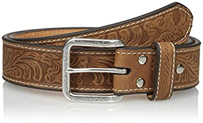 Nocona Belt Co. Men's Floral Embose