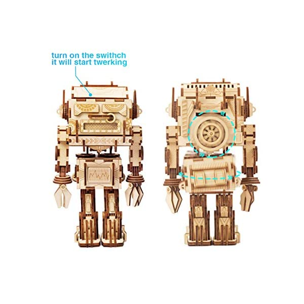Rowood-Dancing-Robot-3D-Wooden-Puzzle-Brain-Teaser-Craft-Toy-Gift-for-Adults-Teen-Boys-Girls-Age-14-DIY-Model-Building-Kits–Twerking-Robot