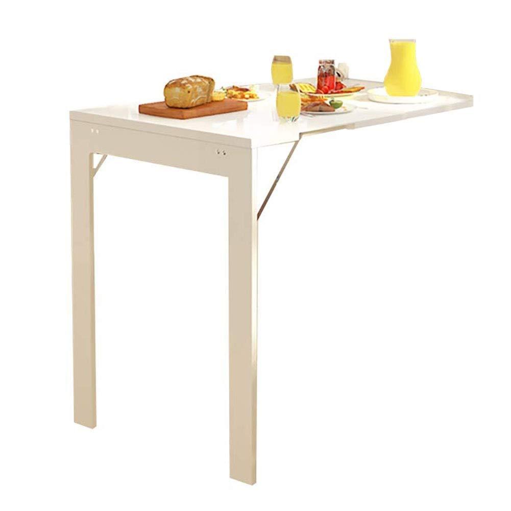 壁掛け折りたたみ式コンバーチブルテーブル、シンプルな折りたたみ式ラップトップデスク、書斎用スペース節約ハンギングテーブル、ベッドルーム、バスルームまたはバルコニー B07T8HNV7P