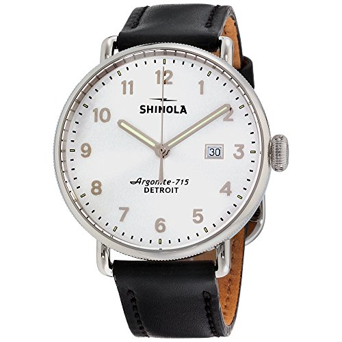 Shinola The Canfield Silver Dial Leather Strap Men's Watch 20089881