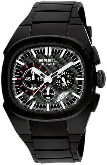 Breil Milano BW0368 - Reloj de Caballero de Cuarzo, Correa de Caucho Color Negro