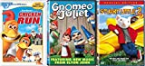 Computer Animated Family Entertainment 3-Movie Pack - Chicken Run, Gnomeo & Juliet and Stuart Little 2 3-DVD Bundle