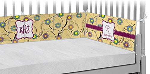- Ovals & Swirls Crib Bumper Pads (Personalized)