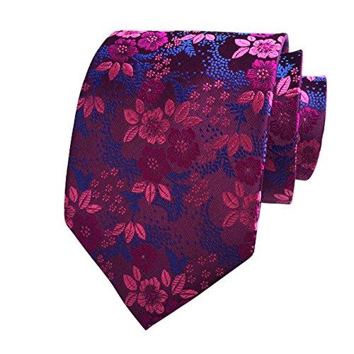 Premium Quality Tie Fashion Men Floral Print Tie Suit Skinny Ties Slim Cotton Tie Necktie for Wedding Party t-04-29