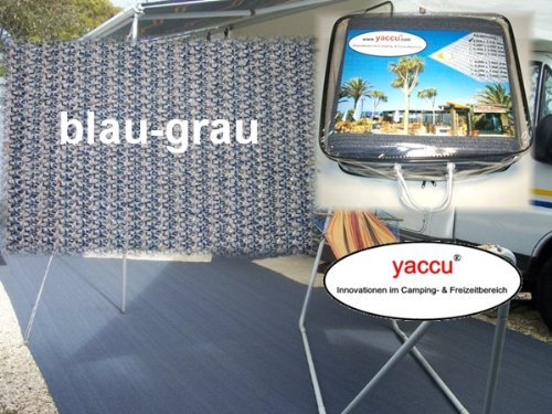 Yaccu Hochwertiger VORZELTTEPPICH 4 blau-grau x 3m blau-grau 4 b34087