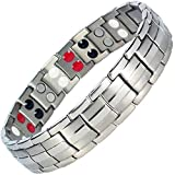 Mens Best Ion Bracelet ALL SIZES Germanium Titanium Negative Ion Magnetic Bracelet for Arthritis Therapy Health Energy Balance Bracelet +Gift Box-ST4 (23 cm / 9 in)