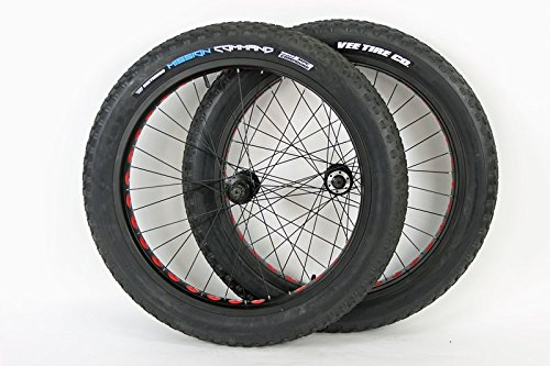 Bullseye MonsterWheels 26 inch Aluminum Rims Fat Tire Bike Wheels 135/170mm Hubs 26 x 4.0 Mission Command Tires and Tubes