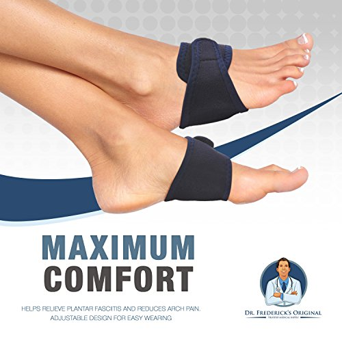 Dr. Frederick's Original Arch Support Brace Set - Two Orthotic Insole Wraps for Plantar Fasciitis and Flat Feet - Fast Relief of Foot Pain by Dr. Frederick's Original (Image #6)