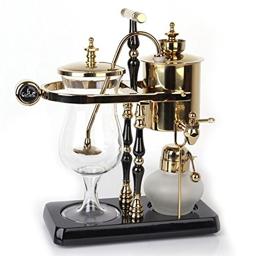 Diguo Belgian/Belgium Luxury Royal Family Balance Siphon/Syphon Coffee Maker. Elegant Double Ridged Fulcrum with Tee handle (Egyptian Black & Gold) by Diguo (Image #4)