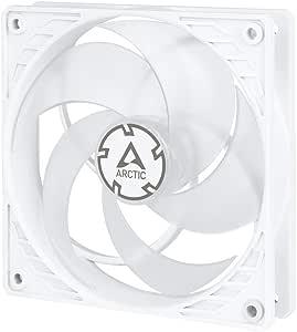 ARCTIC P12 PWM PST - 120 mm Ventilador de Caja con PWM Sharing Technology (PST), Motor Muy Silencioso, Computadora, 200-1800 RPM - Blanco/Transparente: Amazon.es: Informática
