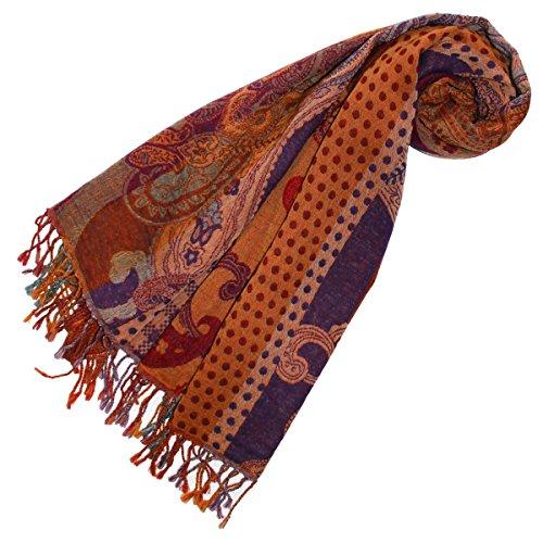 LORENZO cANA de luxe pour dames - 100%  pure laine d'agneau écharpe été 70 cm x 180 cm - 78195