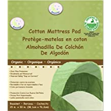 "Snoozy 100% Organic Cotton Bassinet Pad, Beige, 15"" x 30"""