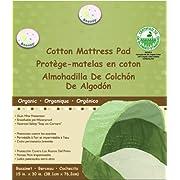 Snoozy 100%  Waterproof Cotton Bassinet Pad, Beige, 16 x 31, Machine Washable