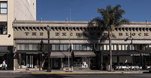 24 x 36 Giclee Print of The Exchange Block a 1929 commercial building designed by architect Cyrill Benett on Colorado Boulevard in Pasadena California r01 2013 by Highsmith, Carol - Boulevard Colorado California Pasadena