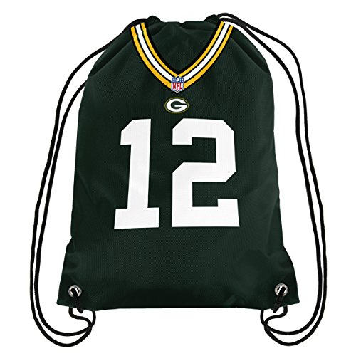 FOCO NFL Green Bay Packers Aaron Rodgers #12 Double Sided Drawstring Backpack by FOCO (Image #1)
