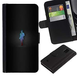 Protector de cuero de la PU de la cubierta del estilo de la carpeta del tirón BY RAYDREAMMM - Samsung Galaxy S5 Mini, SM-G800 - Juego Camaleón Spy Tf