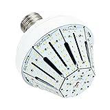 Phenas LED Corn Bulb Garden Light 30W (100-200 Watt Replacement), LED Street Light/Garden Lamp/Parking Lot, E39 Large Mogul Screw Base, 5000K Area Light, 360° Flood Light, UL-Listed, DLC-Qualified