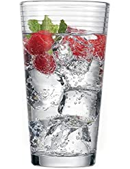 Circleware Theory Drinking Glasses, Set of 4, 17 oz., Clear