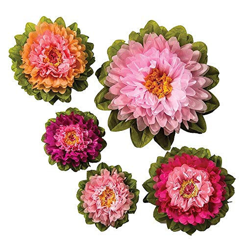 Luna Bazaar Large Tissue Paper Flowers Multiple Sizes Signature Pinks Set of 5