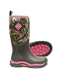 Muck Boot Women's Woody Max Waterproof Boots, Camouflage, Neoprene, Rubber, Fleece, Mesh, 5 M