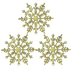 CANAFA-Home & Kitchen Artificial Flowers 3Pcs Christmas Tree Ornaments Christmas Simulation Snowflake Xmas Ornament 119