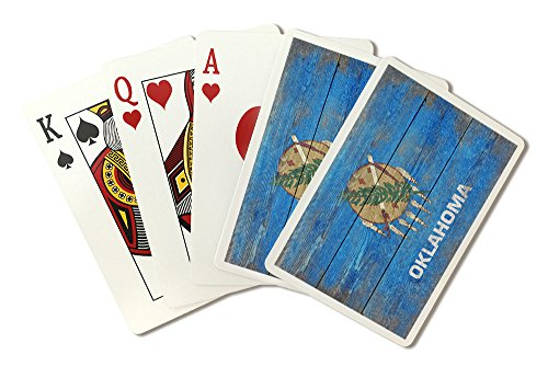 Rustic Oklahoma State Flag (Playing Card Deck - 52 Card Poker Size with Jokers)