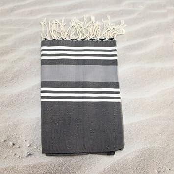 Trinidad Carbon- 100% algodón Fouta toalla de baño, 100cm x 200cm, probablemente la más versátil toalla se puede comprar ...