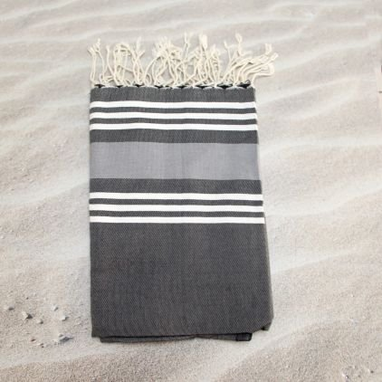 Trinidad Carbon- 100% algodón Fouta toalla de baño, 100cm x 200cm, probablemente