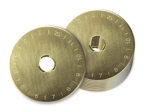 Tonsiki 10 Pcs 45mm Titanium Coated Rotary Cutter Blades, Perfect for Cuts Fabric, Sewing, Leather and Paper by Tonsiki