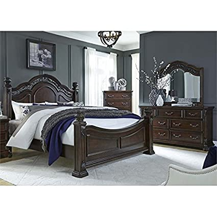 Amazon.com: Liberty Furniture Messina Estates 4 Piece Queen Poster ...