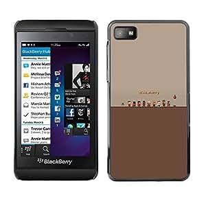 Caucho caso de Shell duro de la cubierta de accesorios de protección BY RAYDREAMMM - Blackberry Z10 - Tf Fortress 2 Juego