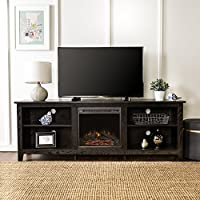 New 70 Inch Wide Black Fireplace Televis...