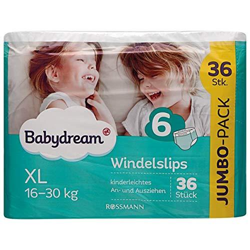 babydream Windel-Slips XL Jumbo-Pack 36 Stück Größe 6, 16-30 kg