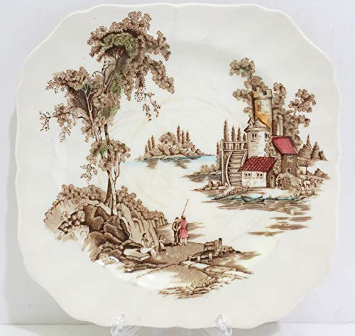 Johnson Brothers Mill - Johnson Brothers The Old Mill England Square Salad Plate