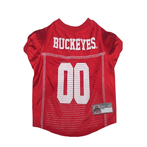 Pets First Collegiate Ohio State Buckeyes Dog Mesh Jersey, Medium