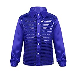 Boys Long Sleeves Sequin Stage Shirt