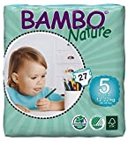 Bambo Nature Eco Friendly Baby Diapers Classic for Sensitive Skin, Size 5 (26-49 lbs), 27 Count